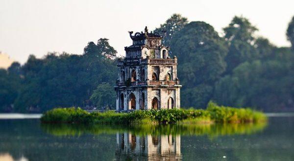 tháp rùa thắng cảnh Hà Nội
