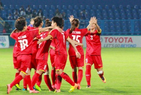 Đội tuyển Nữ Việt Nam thắng Thái Lan,