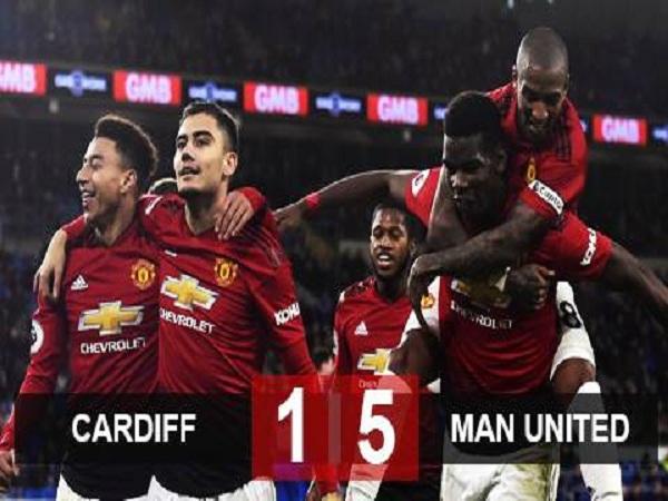 M.U đại thắng Cardiff City ngày Solskjaer ra mắt