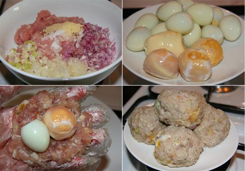 Nguyên liệu cho cách làm bánh bao nhân thịt