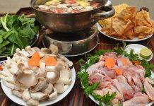 Cách nấu lẩu gà nấu nấm