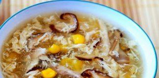 cách nấu sup gà nấm hương