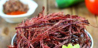 Đặc sản Mộc Châu - Thịt trâu gác bếp
