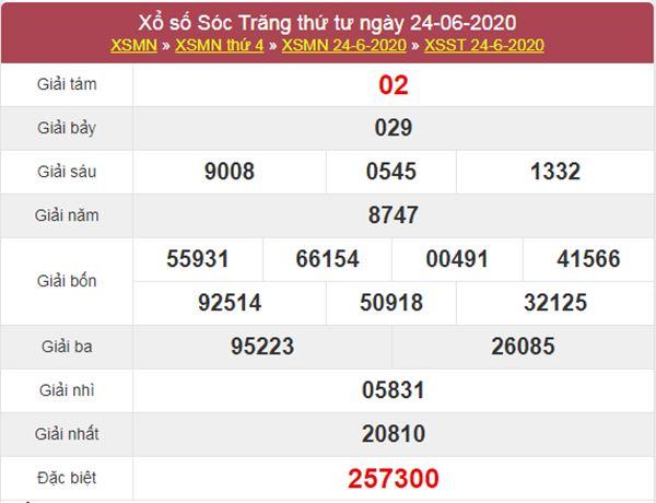 Dự đoán XSST 1/7/2020 chốt KQXS Sóc Trăng thứ 4