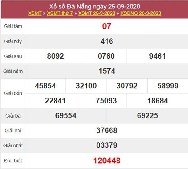 Phân tích XSDNG 30/9/2020 chốt KQXS Đà Nẵng thứ 4