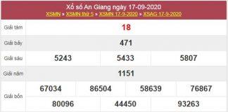 Soi cầu KQXS An Giang 24/9/2020 chốt lô XSAG siêu chuẩn