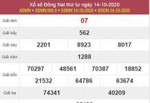 Thống kê XSDNA 21/10/2020 chốt KQXS Đồng Nai thứ 4