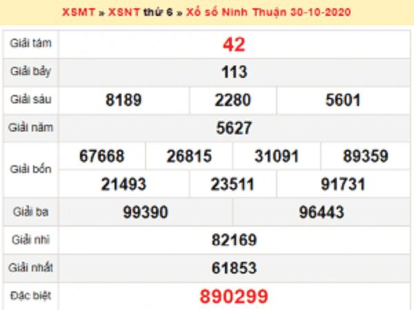 Phân tích KQXSNT ngày 06/11/2020- xổ số ninh thuận chắc trúng