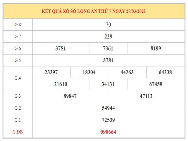 Dự đoán XSLA ngày 3/4/2021 dựa trên kết quả kì trước