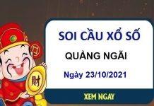 Soi cầu xổ số Quảng Ngãi ngày 23/10/2021